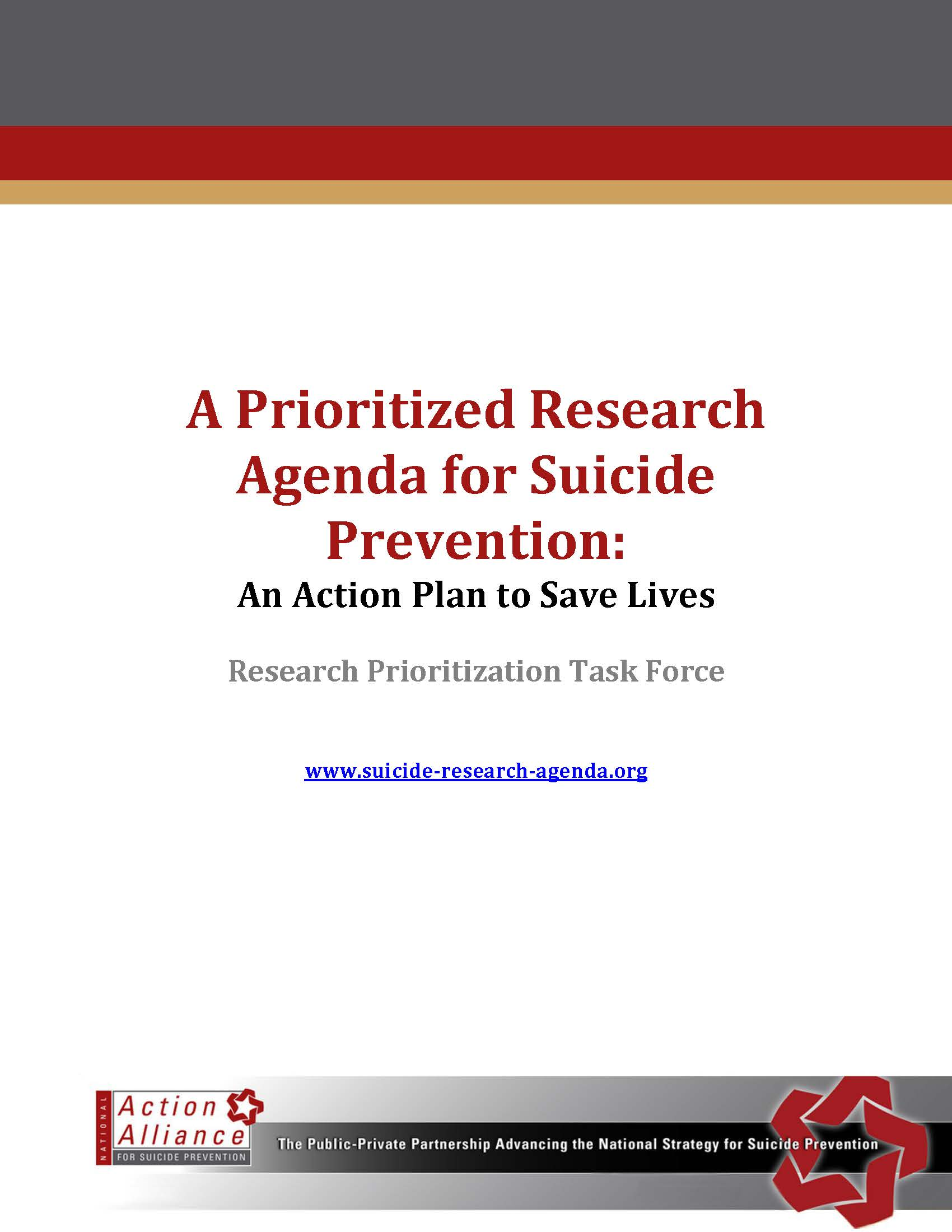 A Prioritized Research Agenda for Suicide Prevention: An Action Plan to Save Lives