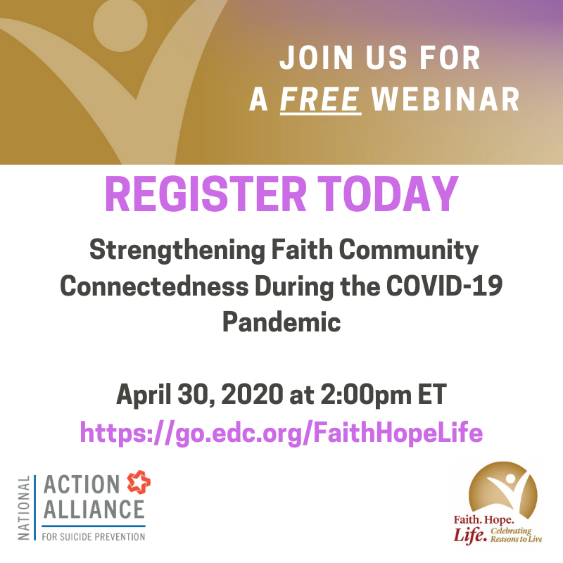 Webinar: Strengthening Faith Community Connectedness During the COVID-19 Pandemic