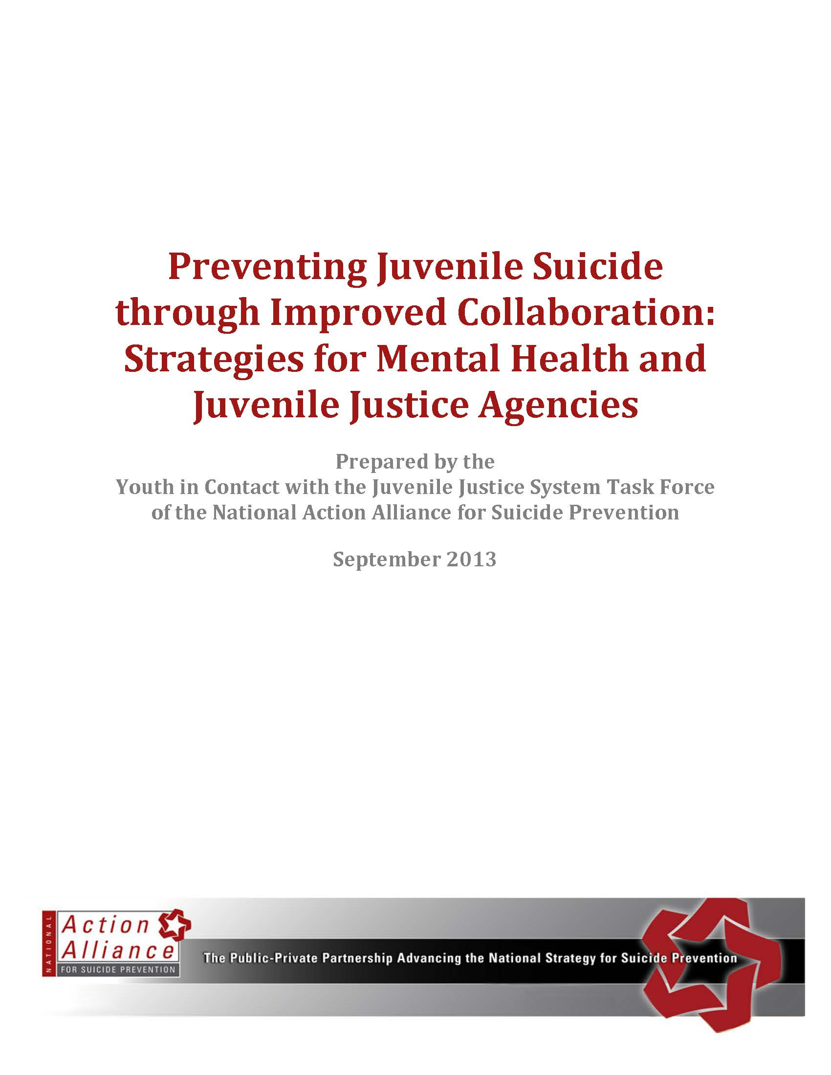 Guide to Developing and Revising Suicide Prevention Protocols for Youth in Contact with the Juvenile Justice System