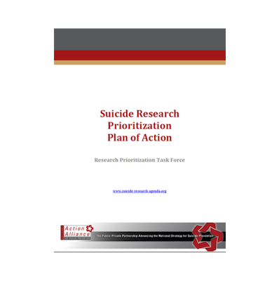 Suicide Research Prioritization Plan of Action
