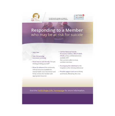 Responding to a Member Who May Be at Risk for Suicide