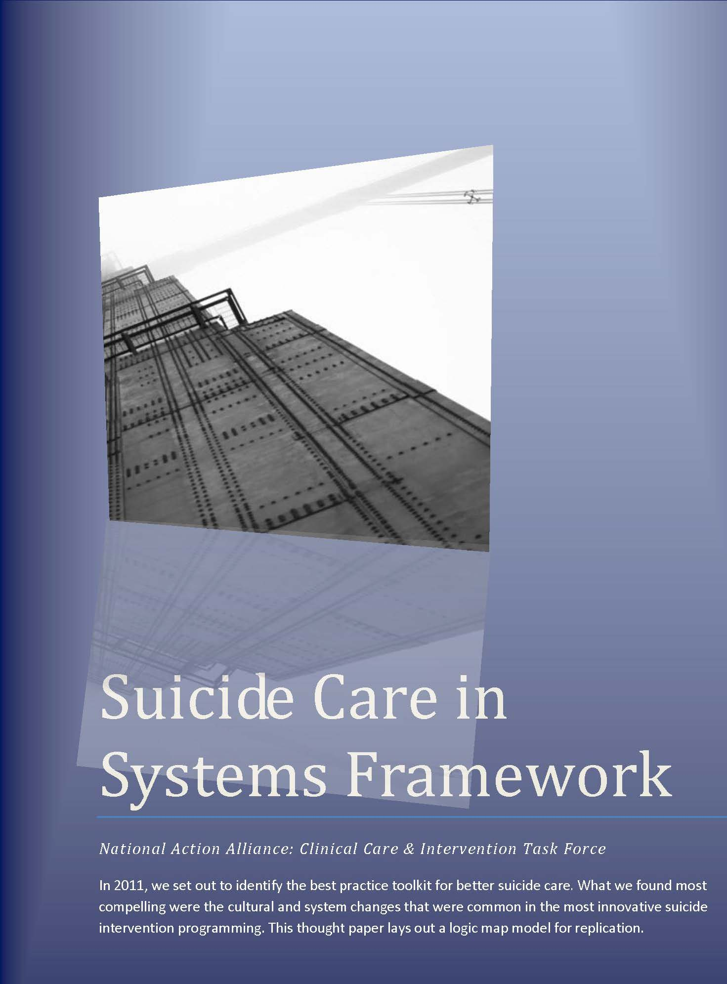 Suicide Care in Systems Framework