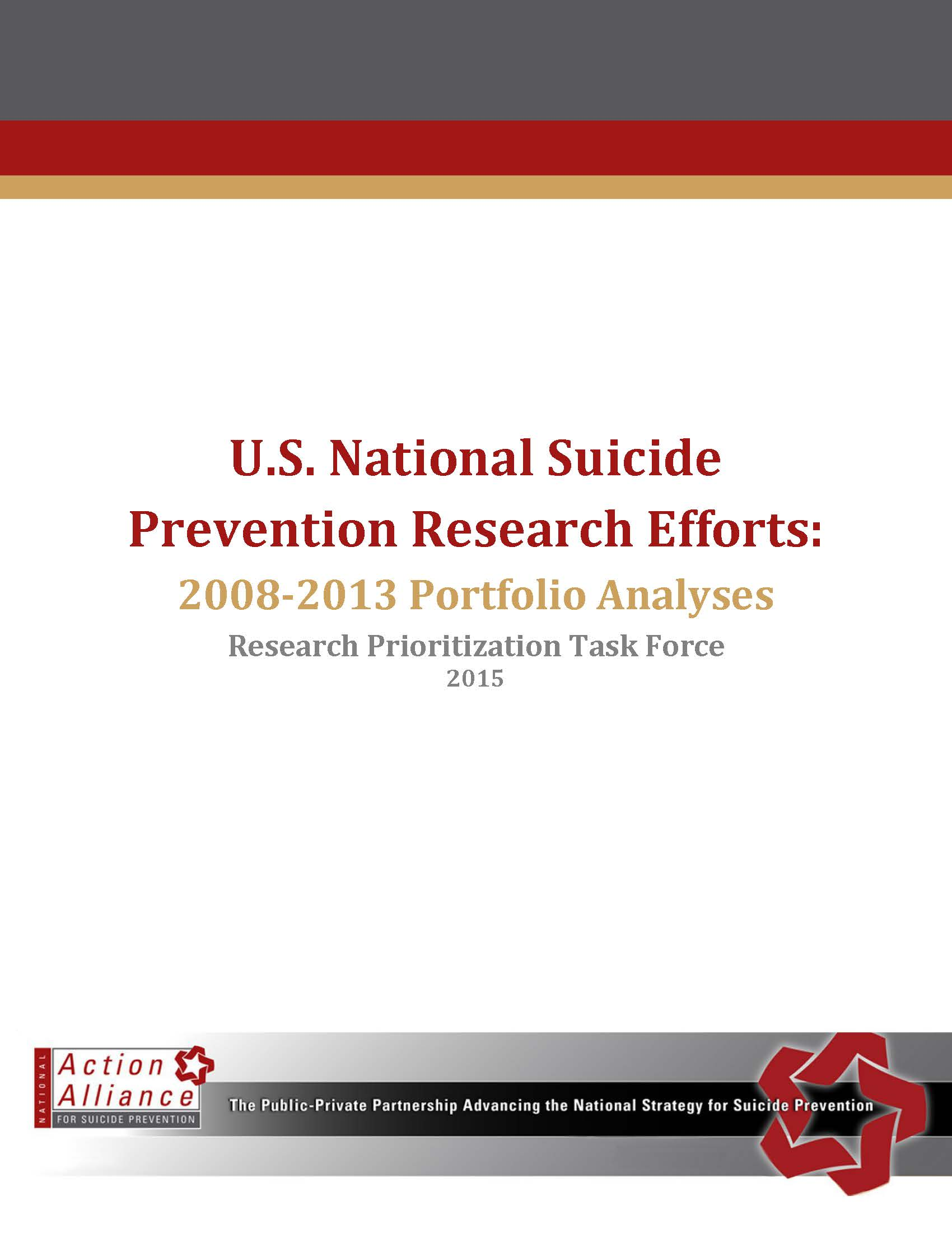 U.S. National Suicide Prevention Research Efforts: 2008-2013 Portfolio Analyses